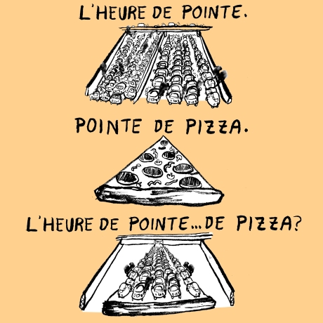 L'heure de pointe de pizza_colour